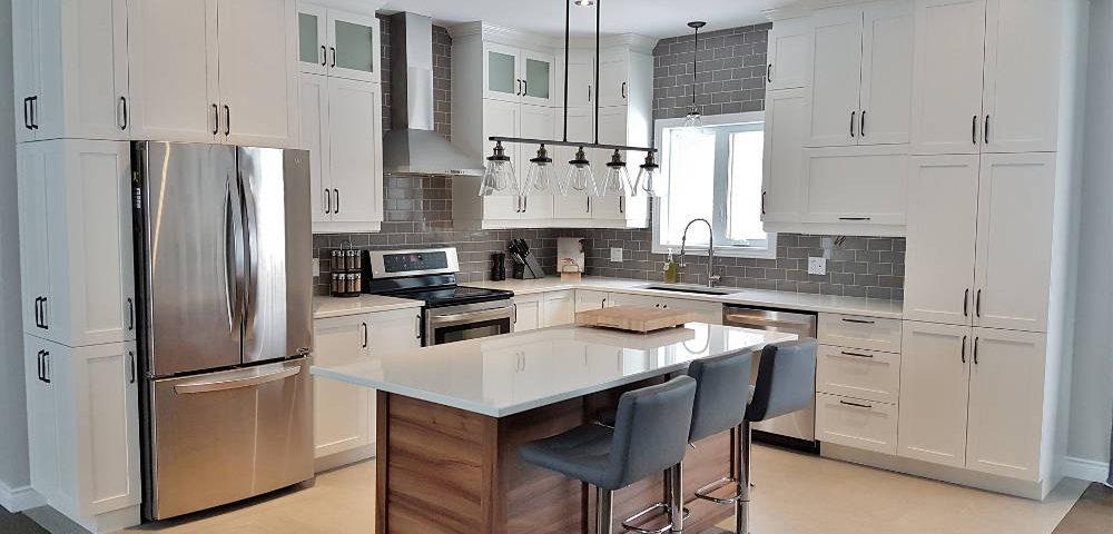 Modèle d'armoires de cuisine et comptoir de cuisine