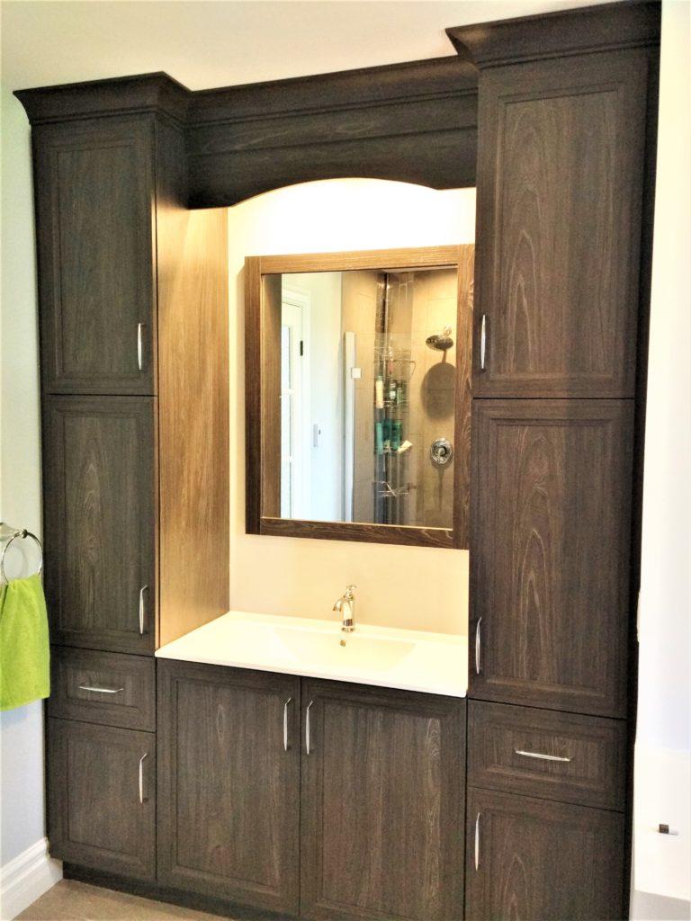 8. Vanité de salle de bain polyester
