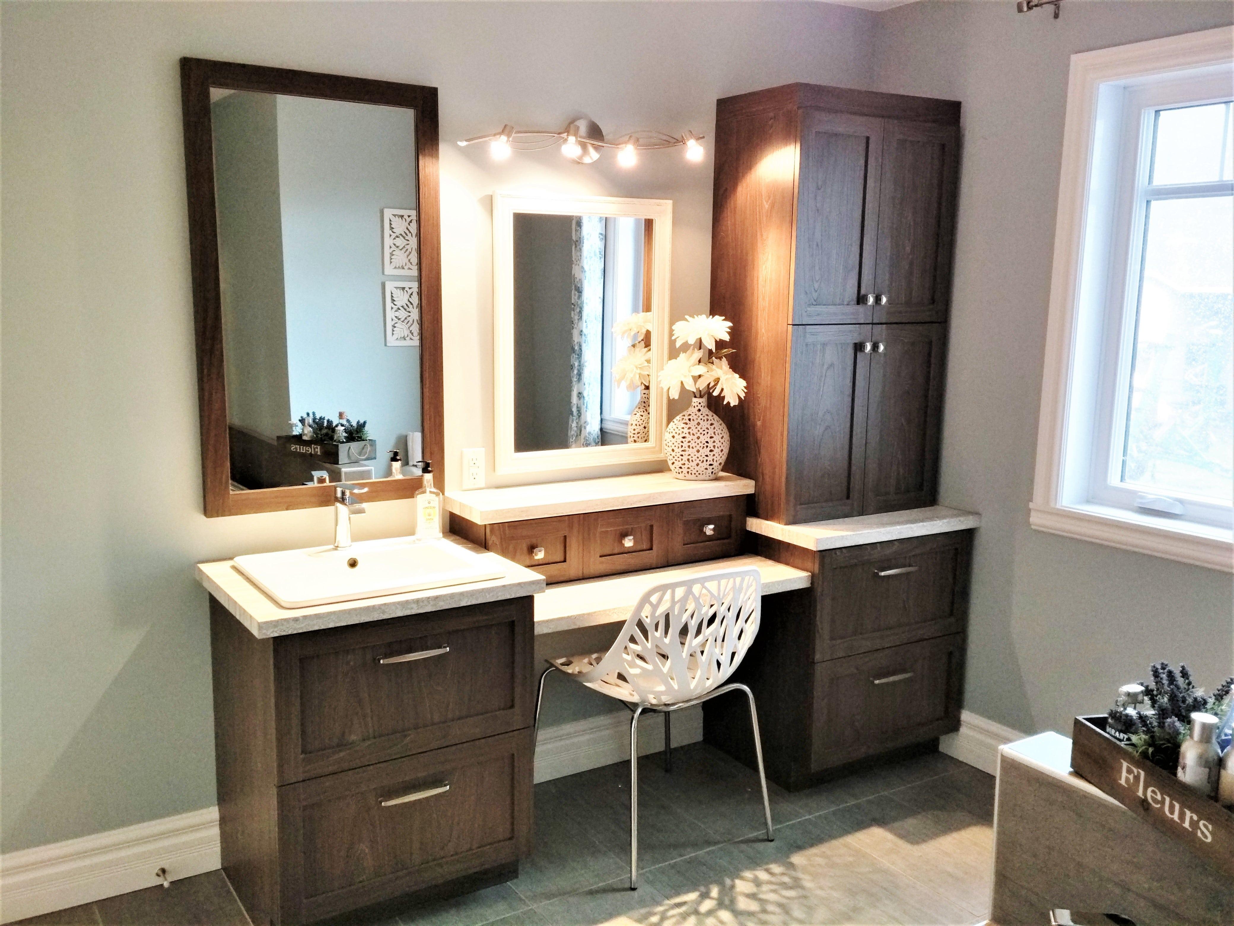5. Vanité de salle de bain polyester