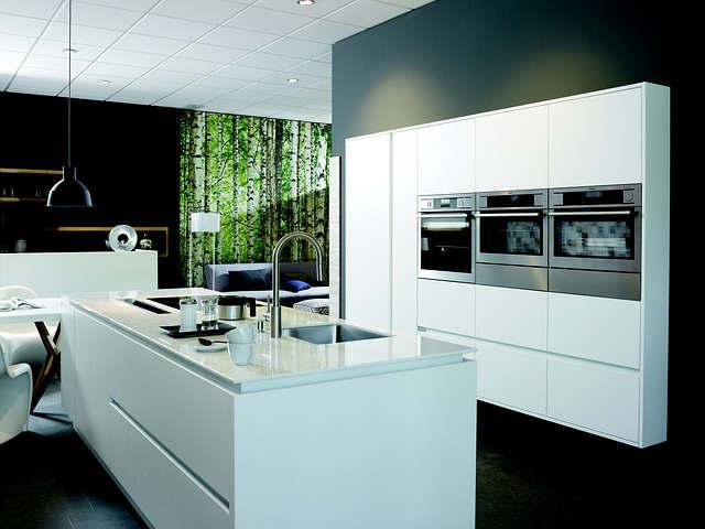 Armoires de cuisine blanches contemporaine